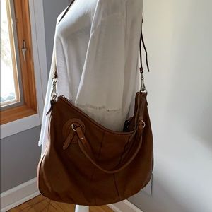 Ralph Lauren Leather Satchel/Crossbody Bag
